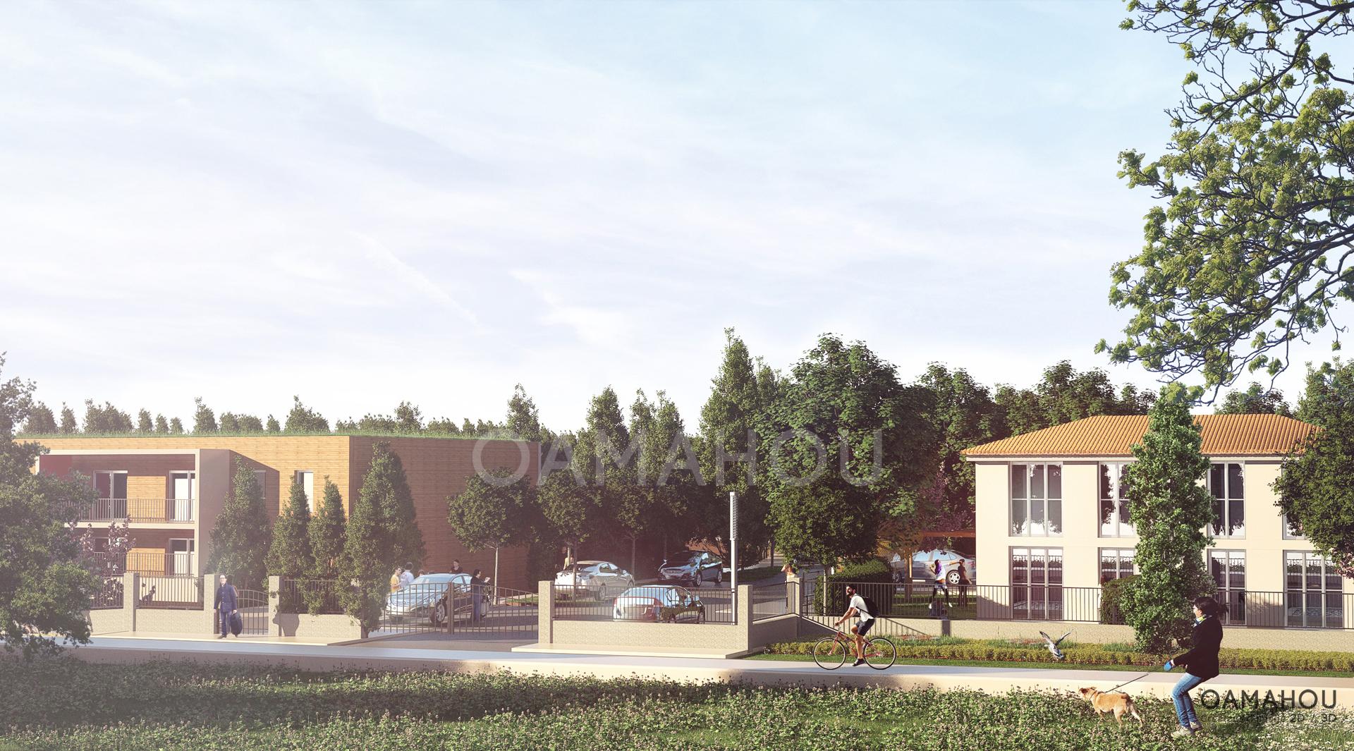 Architecture d'extérieur - Outmane AMAHOU - Client: Aire Publique / Citadia